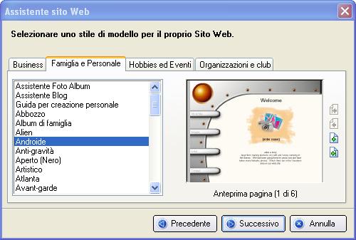 Realizzazione di siti web dall aspetto professionale in for Crea il tuo software di casa