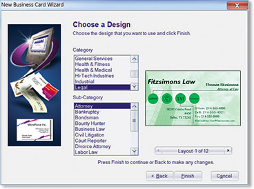 Business card factory deluxe 40 avanquest or create your own layout12 reheart Images