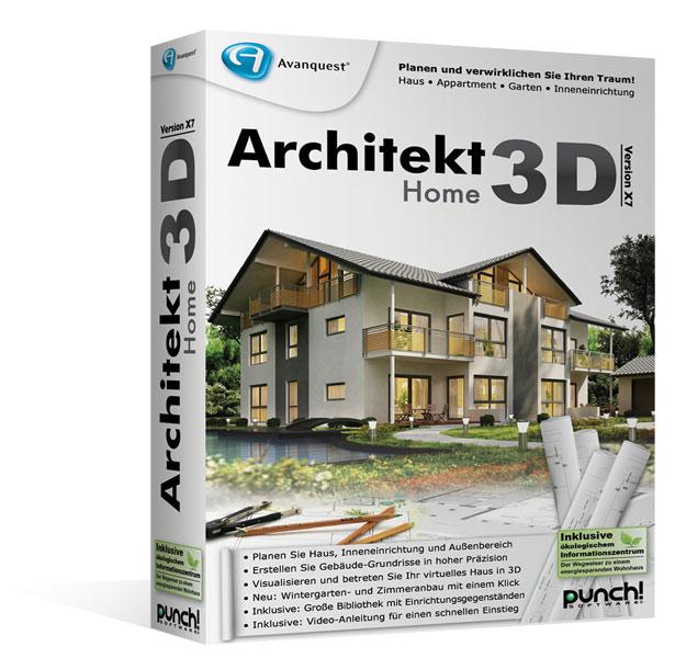 Architekt 3D X7.6 Home. Planen Sie Haus, Wohnung, Garten Oder  Inneneinrichtung ...