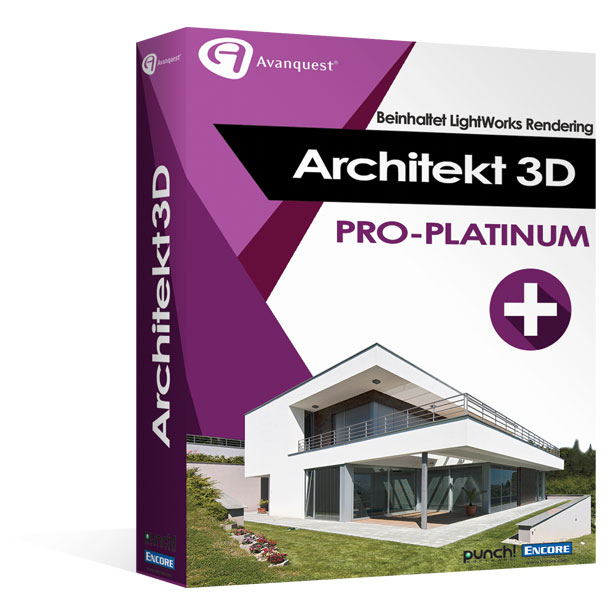 architekt 3d x9 pro platinum die ultimative planung von. Black Bedroom Furniture Sets. Home Design Ideas