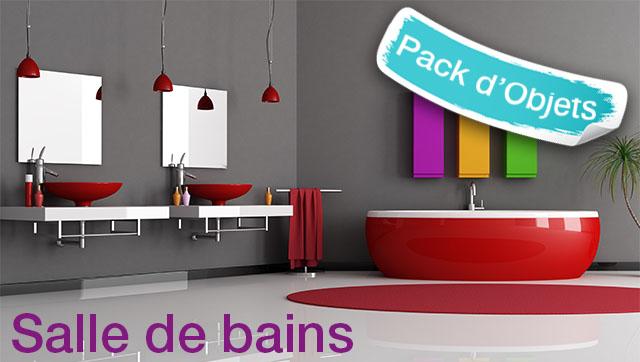 Pack d 39 objets 3d pour turbocad salle de bains for Amenagement salle de bain 3d