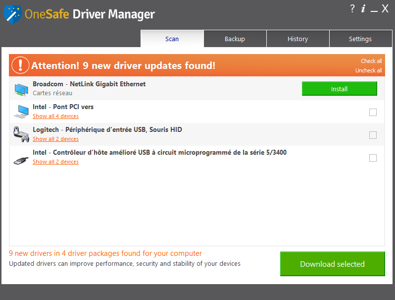 how to search for driver updates