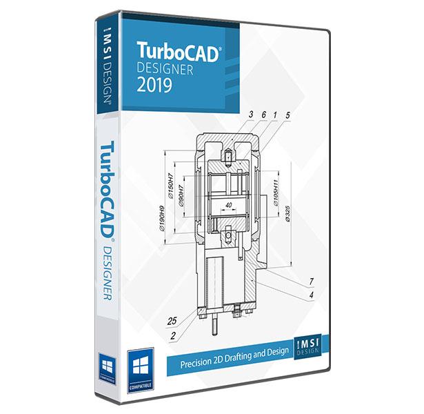 TurboCAD 2019 Designer -Easy 2D CAD Software
